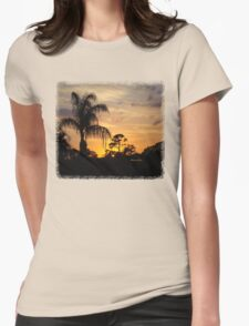 Fast Moving Clouds at Sunset Womens Fitted T-Shirt