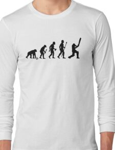 Evolution Of Man and Cricket Long Sleeve T-Shirt