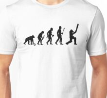 Evolution Of Man and Cricket Unisex T-Shirt
