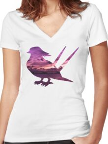Swellow used Aerial Ace Women's Fitted V-Neck T-Shirt