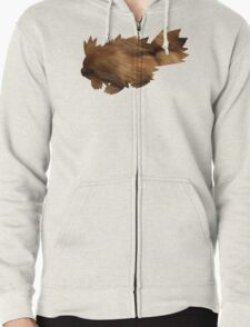 Zigzagoon used Tail Whip Zipped Hoodie