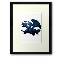 Salamence used Dragon Tail Framed Print