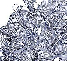 Floral Abstract Line Design by Veronique  Hamel