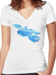 Kyorge used Water Spout Women's Fitted V-Neck T-Shirt
