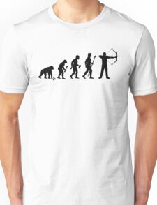 Funny Evolution Of Man and Archery Unisex T-Shirt