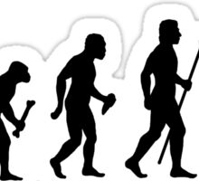 Funny Evolution Of Man and Archery Sticker