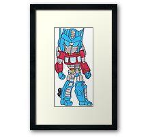 Chibi Optimus Prime Framed Print