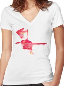 Latias used Mist Ball Women's Fitted V-Neck T-Shirt