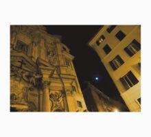 Midnight Roman Facades in Yellow  One Piece - Short Sleeve