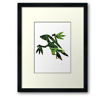 Grovyle used Leaf Blade Framed Print