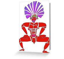 Dance Warrior X  Big Chief Twerking Greeting Card