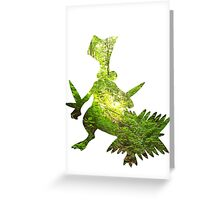 Sceptile used Leaf Storm Greeting Card