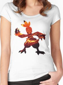 Combusken used Fire Spin Women's Fitted Scoop T-Shirt