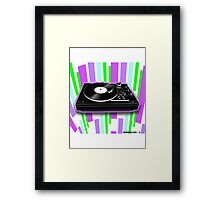 Cool Retro Record Player Framed Print