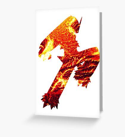 Blaziken used Blaze Kick Greeting Card