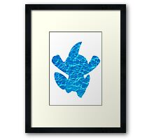 Marshtomp used Water Gun Framed Print