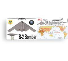 B-2 Stealth Bomber - Spirit of America Longest Sortie Metal Print