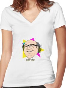 DeVito my hero Women's Fitted V-Neck T-Shirt