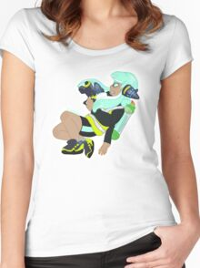 Splatoon - Teal Inkling Girl Women's Fitted Scoop T-Shirt