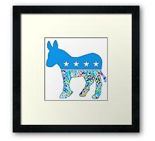 Preppy Democrat v6 Framed Print