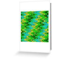 WAVY-2 (Greens, Yellow & Light Blues)-(9000 x 9000 px) Greeting Card