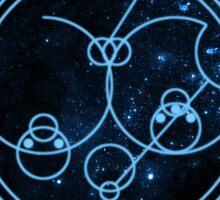 I Love You Circular Gallifreyan  Sticker