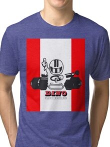 Vintage Kart Dino Tri-blend T-Shirt