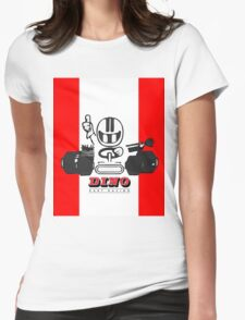 Vintage Kart Dino Womens Fitted T-Shirt