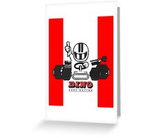 Vintage Kart Dino Greeting Card
