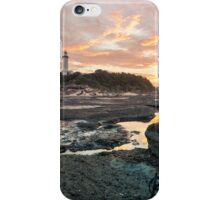Norah heads sunset, lighthouse iPhone Case/Skin
