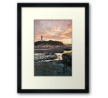 Norah heads sunset, lighthouse Framed Print