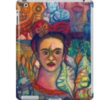 Frida Kahlo and Mexico Homage Original Watercolor by Candace Byington iPad Case/Skin