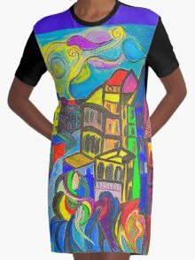 The Wave Graphic T-Shirt Dress