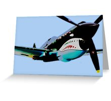 """P-40 """"Flying Tigers"""" Pop Greeting Card"""