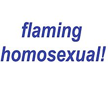 Flaming Homosexual! Photographic Print