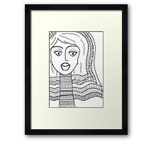 Bel Colla Bride Framed Print