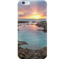 Frazer beach sunrise, sun streaks iPhone Case/Skin