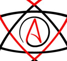 We Fucking Love Atheism  Sticker