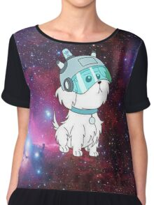 Snowball in space Chiffon Top