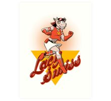 Lacy Swiss of The Bovine League Art Print