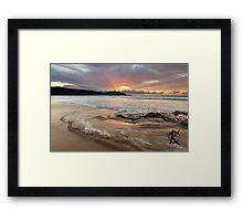 Frazer beach sunrise, moving water Framed Print