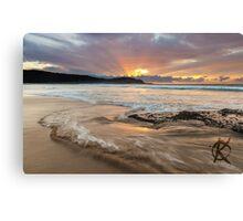 Frazer beach sunrise, moving water Canvas Print