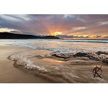 Frazer beach sunrise, moving water Photographic Print