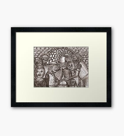 Underworld contract Framed Print