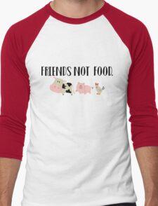 Friends Not Food - Animals Men's Baseball ¾ T-Shirt