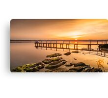 Jetty at Buff Point, sunset Canvas Print