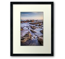 Norah heads early morning, rocks Framed Print