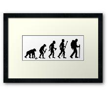 Evolution Of Hiking Framed Print
