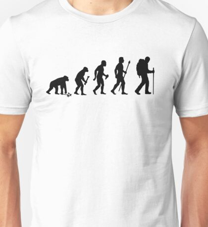 Evolution Of Hiking Unisex T-Shirt