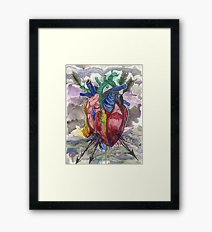 Trap in Love Framed Print